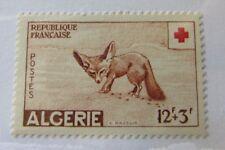 1957 French Algeria SC #B88 FOX  Red Cross MH stamp
