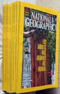 REVISTA NATIONAL GEOGRAPHIC EN ESPAÑOL - 11 EJEMPLARES AÑO 2012 - VER FOTOS