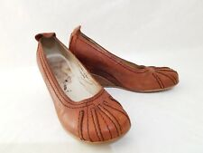 FLY LONDON 'GIRL' WEDGE SHOES BROWN SIZE EUR 36 UK 3