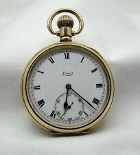 Vintage 14ct Gold Filled LIMIT Open Face Pocket Watch