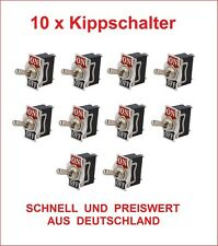 10x Kippschalter 12V 24V Auto 230V 220V Volt 10 A Amper  KFZ LKW Boot Schalter N