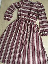 NEU Esprit Maxikleid Strickkleid Kleid Gr S 36 Folklore Beere Natur Streifen