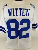 Jason Witten Unsigned Custom Sewn White Football Jersey Size - L, XL, 2XL