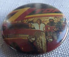 """ZZ TOP Old Vtg 1980`s  Button Pin Badge(25mm-1"""") #NB.129"""