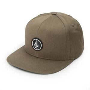 """Volcom """"Quarter Twill"""" Snapback Hat (Military) Men's 6-Panel Skate Cap"""