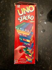 Vintage 1994 UNO Stacko GAME Mattel Stacking Tower Colors Numbers 2+ Players