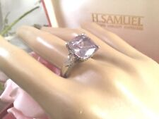 Vintage Art Deco Jewellery Sterling Silver Ring large square Amethyst Jewelry