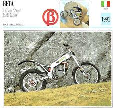 Carte Fiche Moto ITALIE BETA 240cm3 Zero Jordi Tarrès 1991