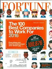 2016 Fortune Magazine: 100 Best Companies to Work For/Zappos/Twitter/VW Scandal