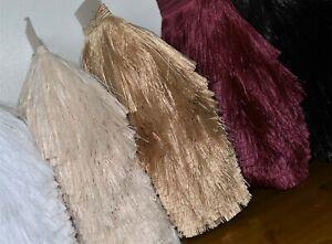 DECORATIVE FINE CUT FRINGE 11 cm width, furnishings craft, 7 colours to choose