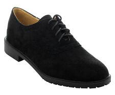 NEW Casual Oxford Women Dress Lace Up Low Heel Platform Suede WingTip Lady Shoe