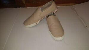 Tommy Bahama BREA Shoes Slip On Loafers Almond Perforated Leather Mens Sz 12M