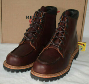 Red Wing Shoes 2927 Sawmill Brown Leather Boots UK8 EU42 US9D Briar Vibram USA