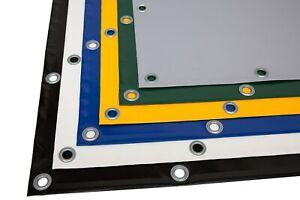 LKW Plane PVC Material mit Saum und Ösen Gewebeplane (4,9m - 5,9m breit) 720g/m²