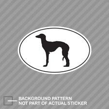 Saluki Euro Oval Sticker Decal Vinyl dog canine pet