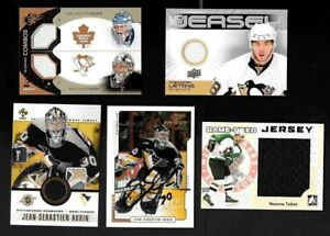 PITTSBURGH PENGUINS AUTOGRAPH, JERSEY NHL HOCKEY CARD & PATCH SEE LIST