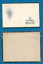 1920 IN MEMORIAM CARD HENRY WILLIAM JOHNSON, HEPWORTH, WEST YORKSHIRE
