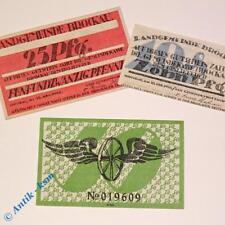 3 x Notgeld Brockau , Polen = Brochów , emergency money , M/G 189.0  in  kfr/unc