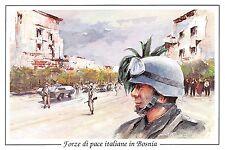 C5060) FORZE DI PACE ITALIANE IN BOSNIA, BRIGATA GARIBALDI BLOCCO STRADALE.