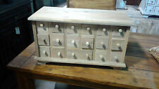 18 Drawer Apothecary, Spice / Jewlery Chest - Unfinished Wood