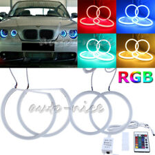 4X For BMW E83 X3 E46 ti Compact RGB Cotton Light Angel Eyes Halo Ring 106+131mm