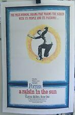 'a raisin in the sun '.original 1961 27 x 41 poster *Sidney Poitier* *RUBY DEE**