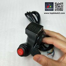 12V-84V Thumb Throttle with 3speed switch with LED voltage display for ebike
