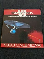 Vintage Star Trek Vi The Undiscovered Country Movie 1993 Wall Calendar (Ln)