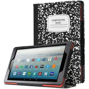Amazon Fire HD 10 (2019) Tablet Case Poetic® Full Leather Smart Cover (Book)