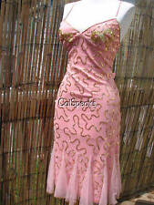 NWT BETSEY JOHNSON VINTAGE EVENING PINK & GOLD SEQUIN MERMAID HEM DRESS~6