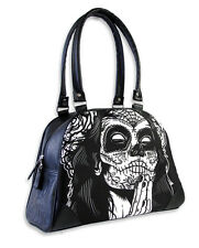 LIQUOR BRAND GYPSY 4 SUGAR SKULL TATTOO MUERTA SKELETON LADIES BIKER BOWLING BAG