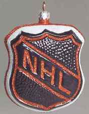 Slavic Treasures Nhl Blown Glass Ornaments Nhl Shield