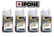 Lot 4 bidons huile IPONE SAMOURAI Bidon : 4L 2T 100% synthetique 2 Temps litres