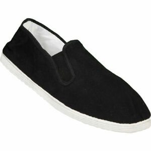 BLITZ TRADITIONAL COTTON SOLE TAI-CHI / KUNG FU LIGHTWEIGHT SHOES - BLACK