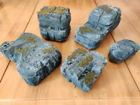 Warhammer Terrain Wargaming Rock / Hill for 40K AOS LOTR  28mm Fully Painted