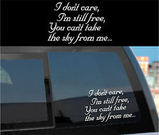 """FIREFLY SERENITY decal sticker new """"...you can't take the sky from me"""""""