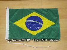 Fahnen Flagge Brasilien Bootsfahne Tischwimpel - 30 x 45 cm