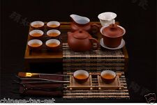 Chinese zisha red tea set tea pot tea cup tea accessory solid wood tea tray gift
