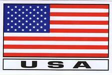 AUTOCOLLANT STICKER DRAPEAU USA ETATS UNIS DIMENSIONS 13 X 8,5 CMS