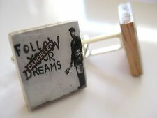 Banksy Inspired Cufflinks Follow your dreams handmade banksy cufflinks unique