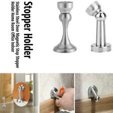 2Pcs Stainless Steel Magnetic Door Stop Stopper Holder Catch for Home Office