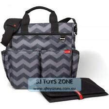 Skip Hop Duo Signature Tonal Chevron Diaper Travel Bag with Changing Pad