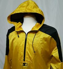 VTG Starter Sailing Jacket Raincoat Men L 1/4 Zip Pullover Hood Waterproof Nylon