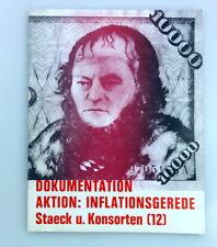 Dokumentation Aktion: Inflationsgerede, Klaus Staeck u. Konsorten Stuttgart 1971