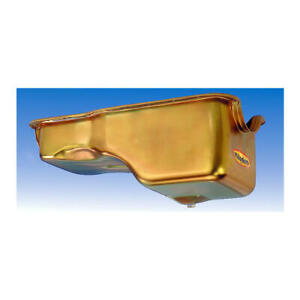 Milodon Engine Oil Pan 30745; Replacement 5qt Gold Iridited for Ford 429/460