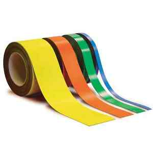 Magnetic Label Roll - 10m (10mm - 100mm Wide) 5 Colours Available