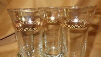 Ice Tea Glasses Libbey Tumblers trimmed in 22kt gold 4 10 ounce glasses