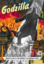 "Coloring Calendar 2018 (12 pages 8""x11"") Godzilla Vintage Posters FLONZ 1010"