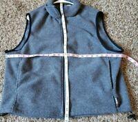 The Woolrich men's XL Zip Up fleece VEST GRAY EUC
