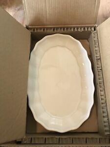 Pottery Barn Stone Platter White